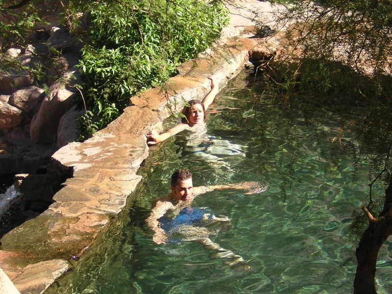 im Wasser heiß