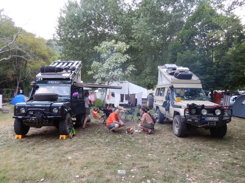 erster Camping in Kroatien mit Andre, Moni und Malin