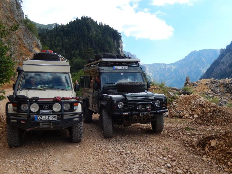 wunderschöne Strecke durch die Berge