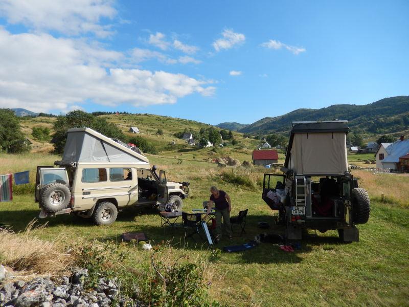 Camping für uns allein in der Bergen