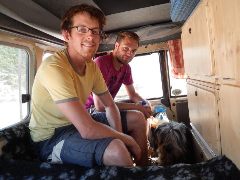 Simon und Felix, zwei deutsche Rucksackreisende