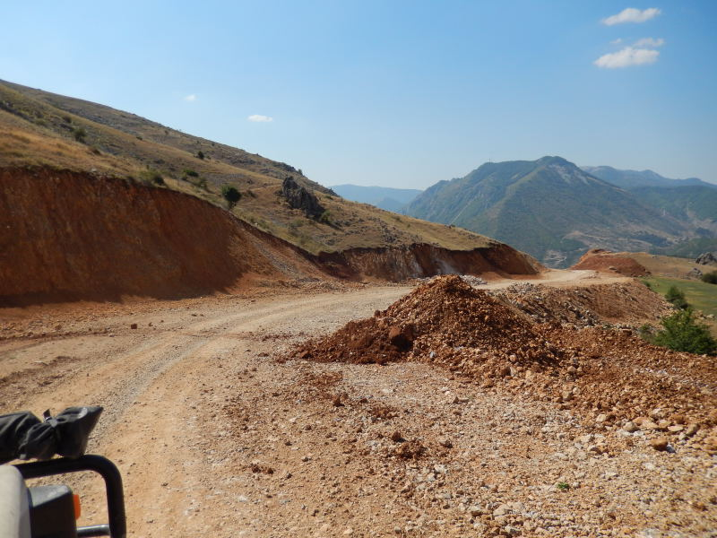 Straßenbau in Albanien