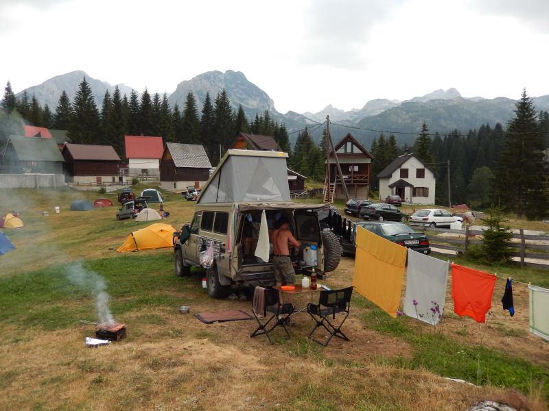 in Montenegro auf dem Camping