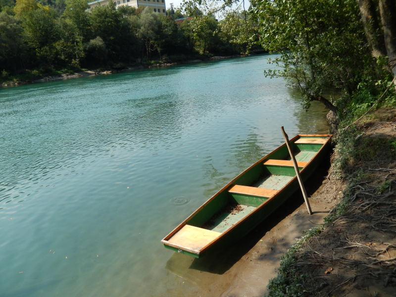 Camping am Fluß Drina