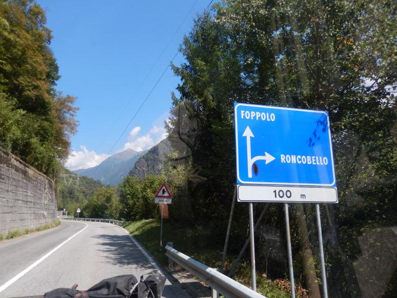 auf dem Weg nach Foppolo