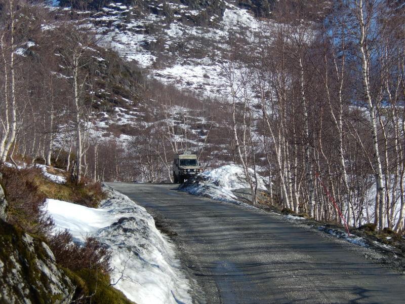 Übernachtungsplatz oberhalb von Bergen