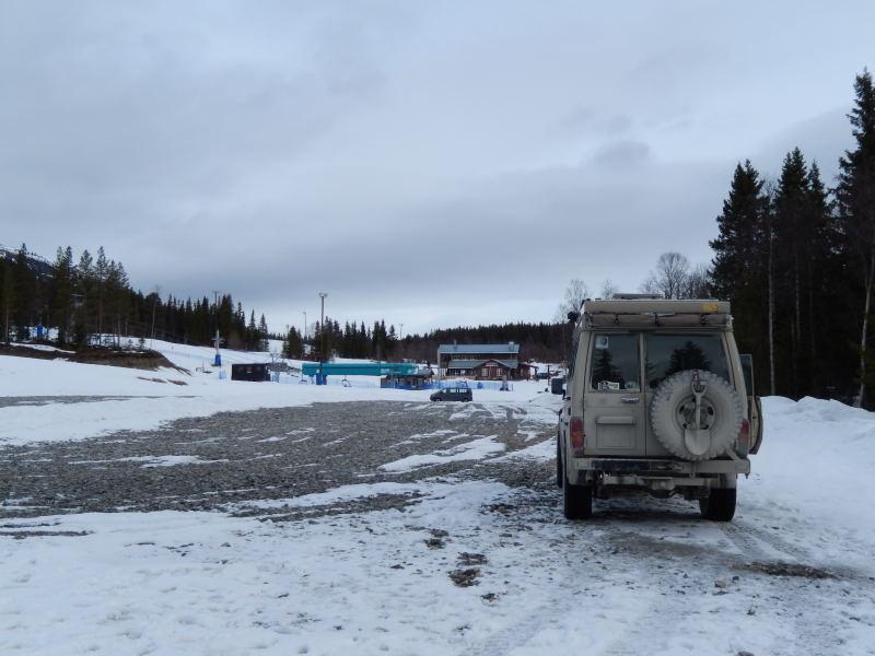 Übernachtung auf Skiparkplatz