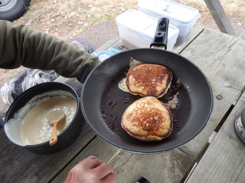 danach lecker Pancakes