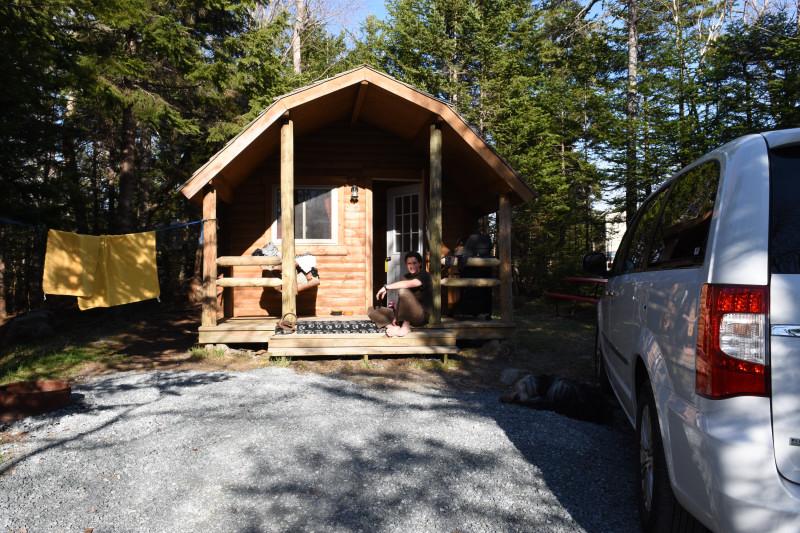 unsere Hütte für die ersten Tage