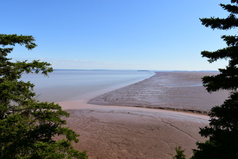 Ebbe an der Bay of Fundy