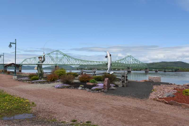 Brücke in die Provinz Quebec auf die Gaspé-Halbinsel