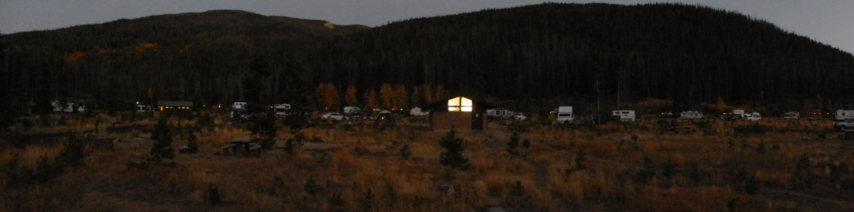 über den Campingplatz