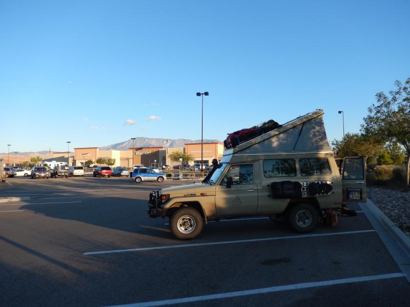 das erste Mal bei Walmart übernachtet