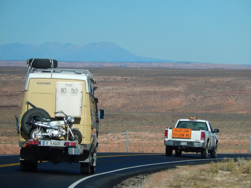 durch die Baustelle am Monument Valley