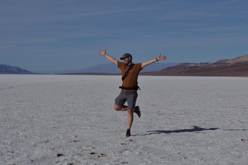 hüpfen auf Salz