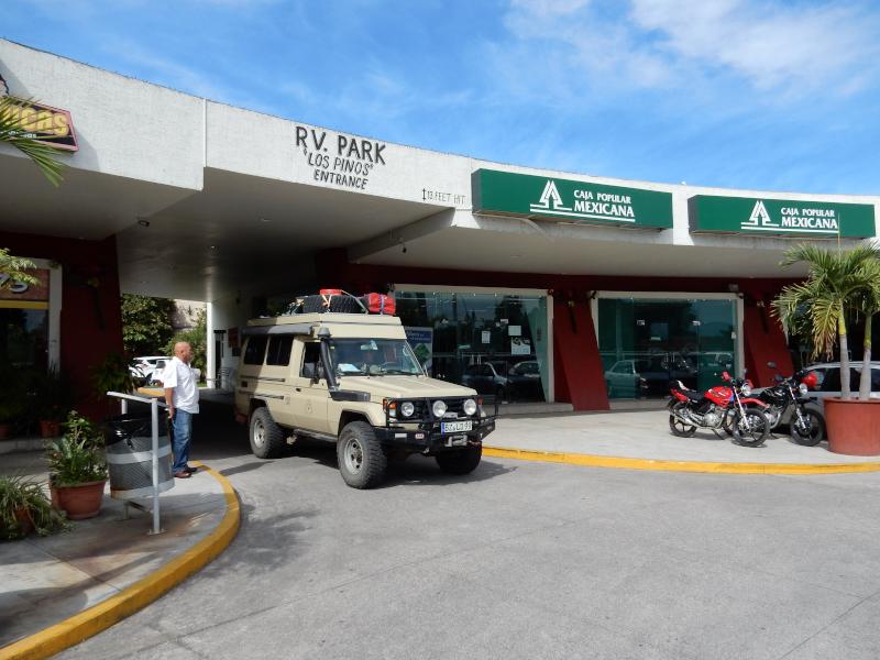 Eingang zum Trailer Park in Tepic