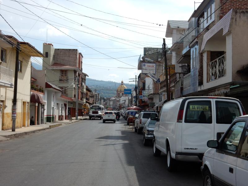 Fahrt durch Tizapan El Alto