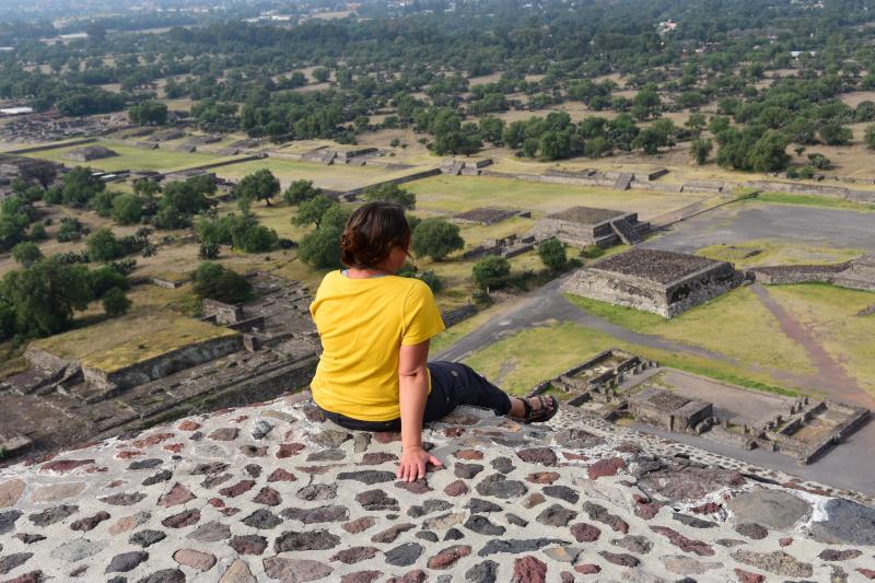 oben auf der Sonnenpyramide