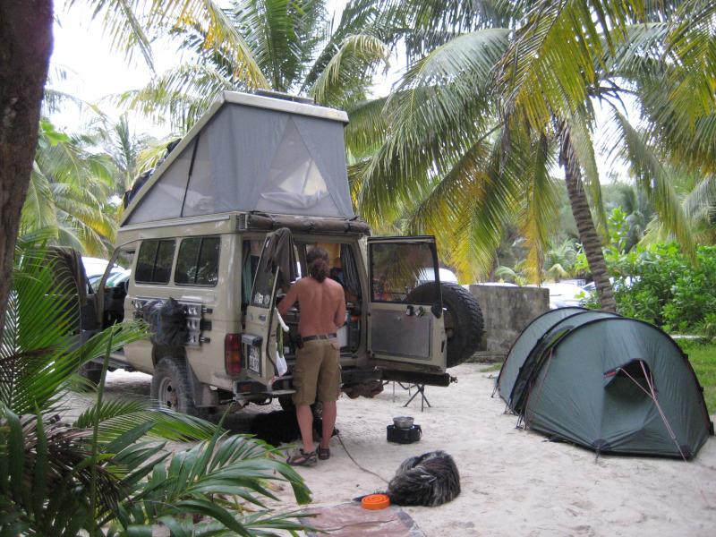 Campingplatz am Strand Xpu-Ha