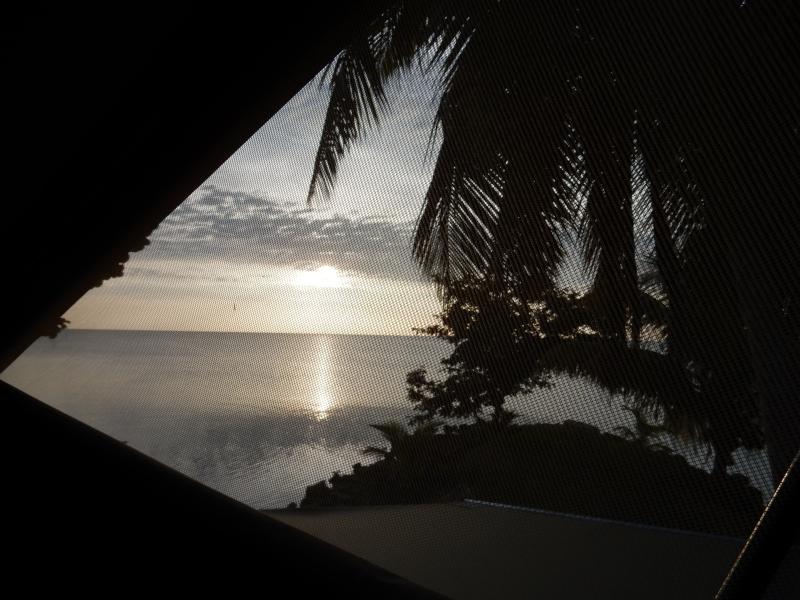 Blick aufs karibische Meer