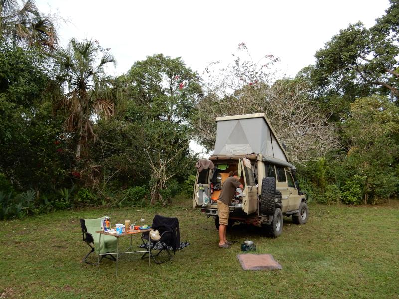 Camping im botanischen Garten