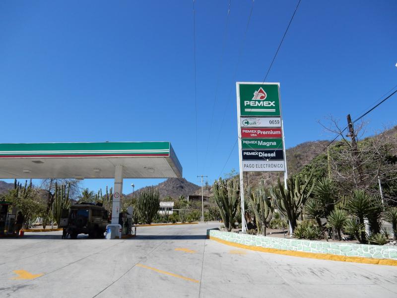 staatliche Tankstelle Mexikos