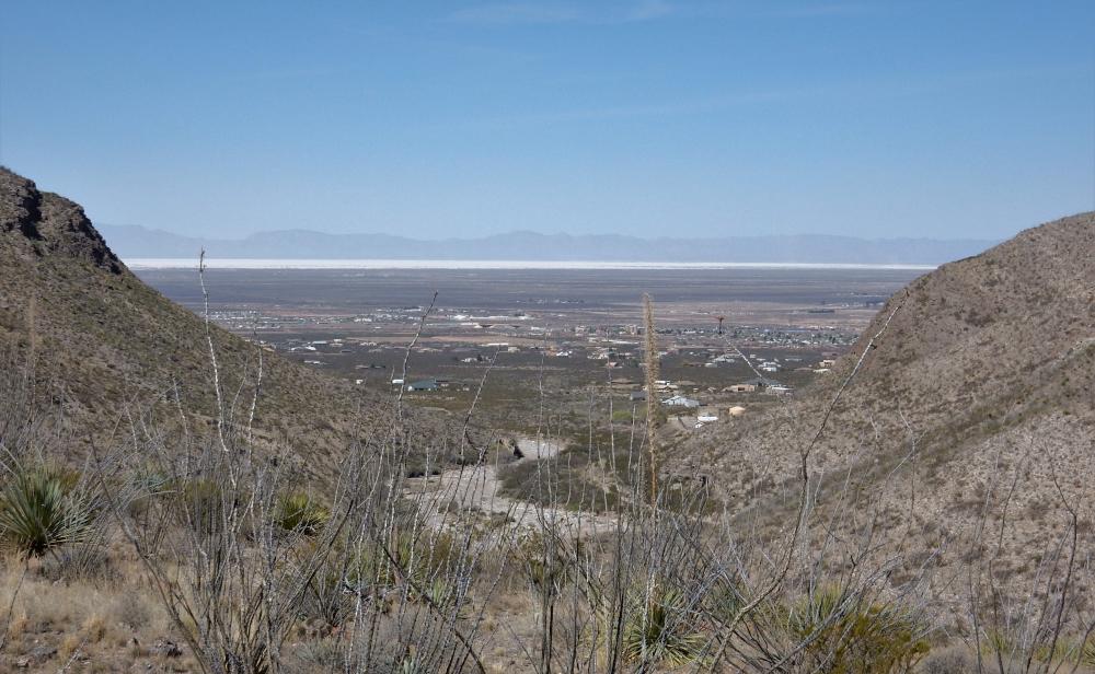 Blick auf die White Sands
