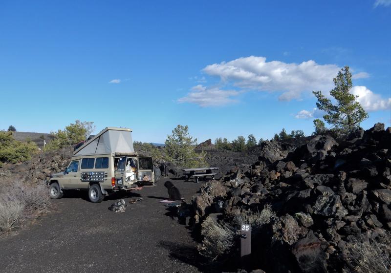 Camping im Lavafeld