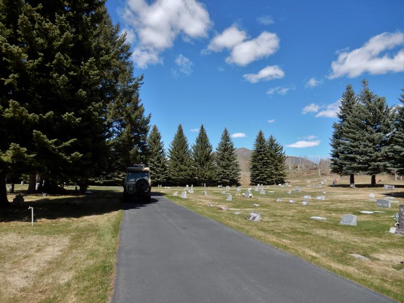 befahrbarer Friedhof