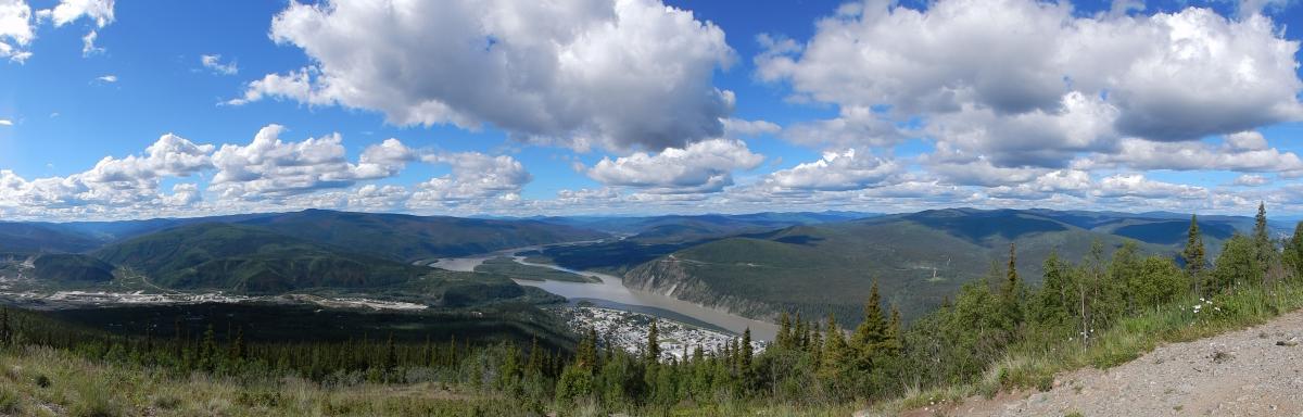 Blick auf Dawson City