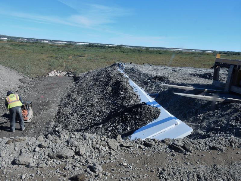 Platten zum Schutz für den Permafrost