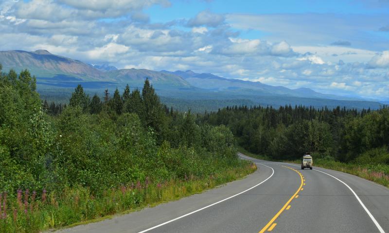 Richtung Norden Alaskas
