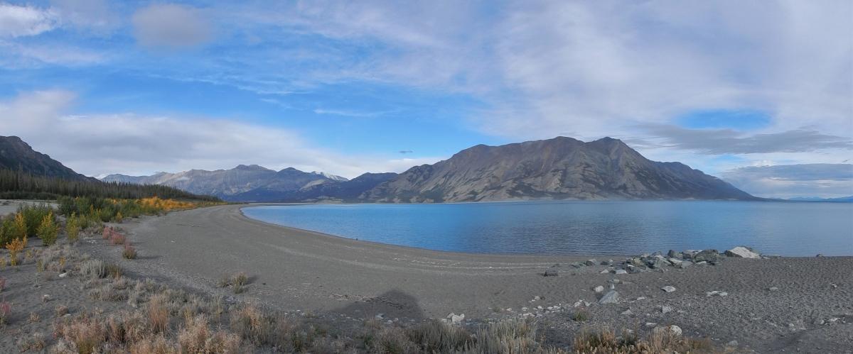 am Kluane Lake