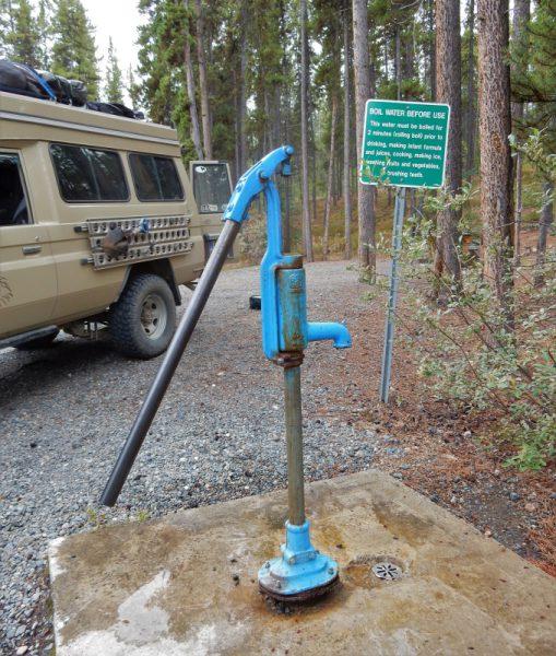 Wassertank auffüllen