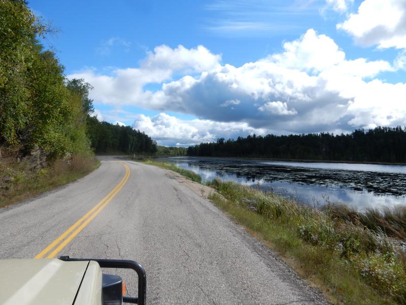 endlich wieder Wald und Seen