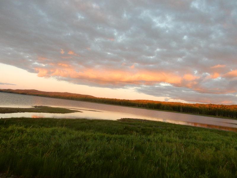 am Lake Morin