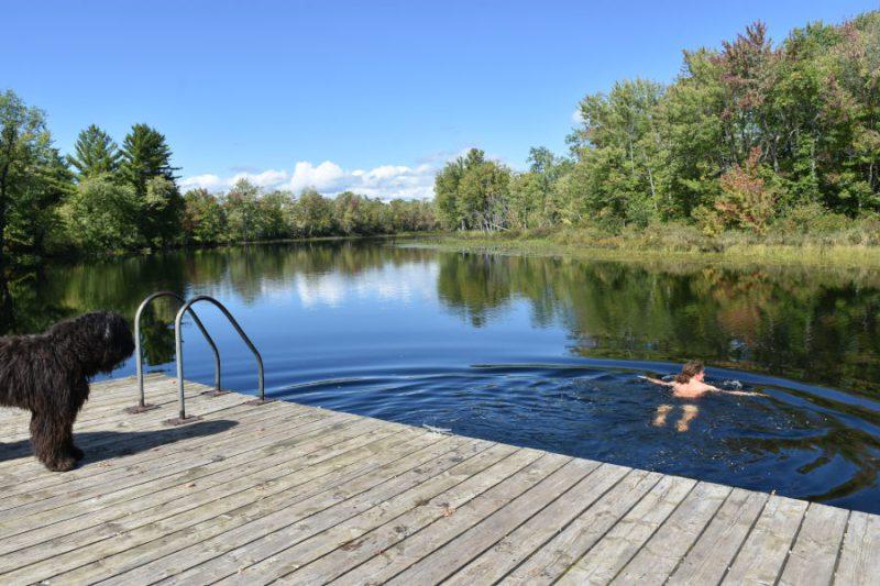 Pause mit baden